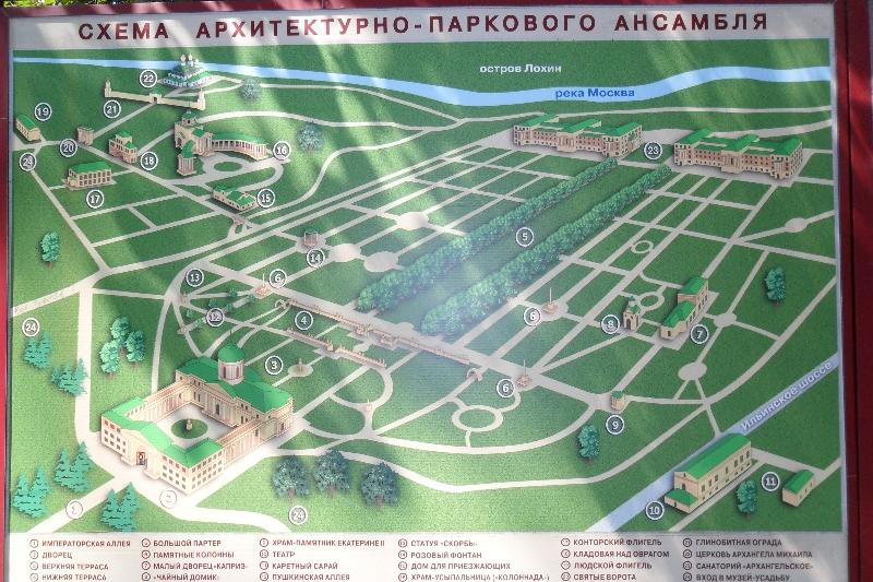 Схема усадьбы